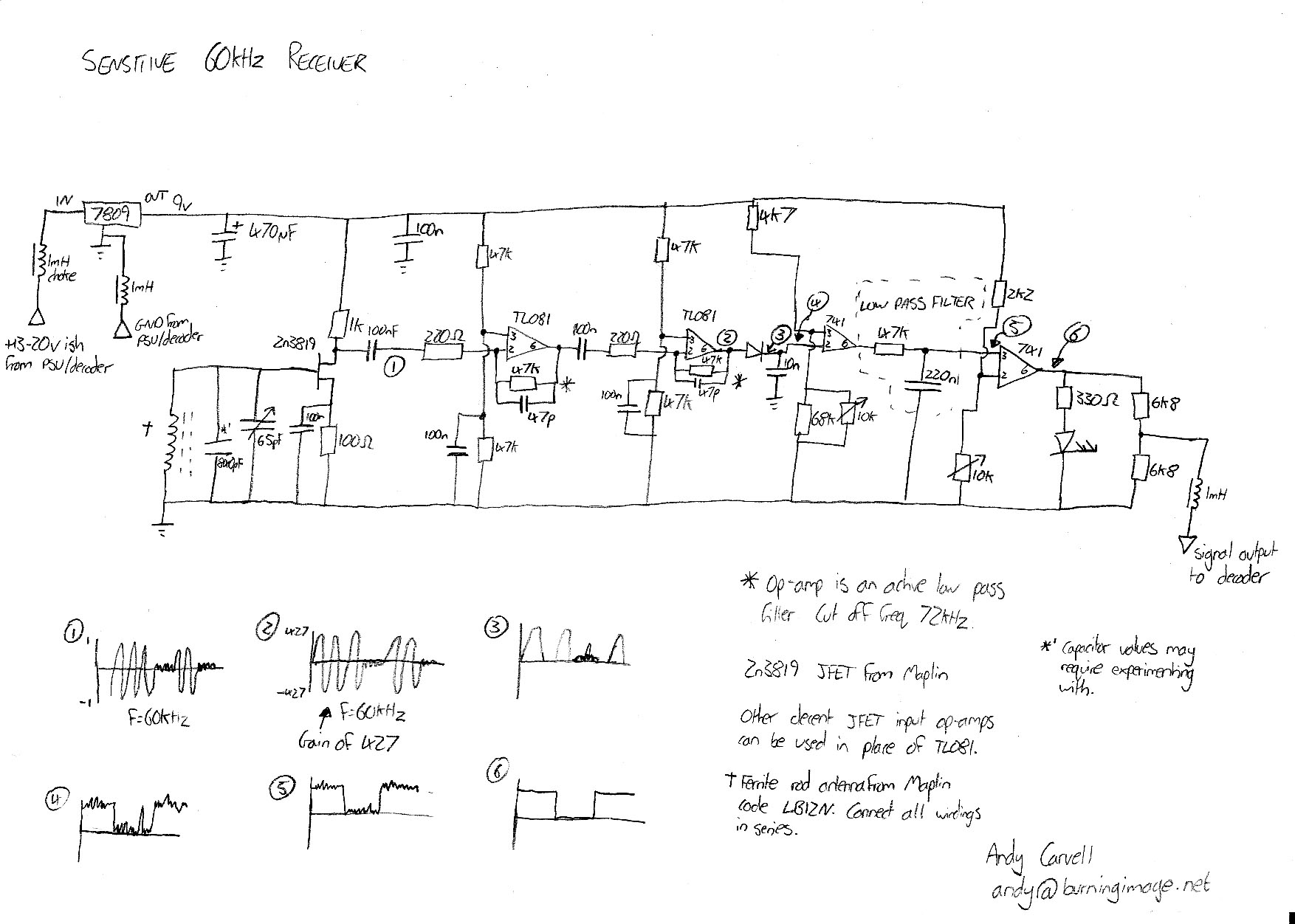 Sensitive 60khz Receiver  Schematic Part Two At Rugby Pic Clock